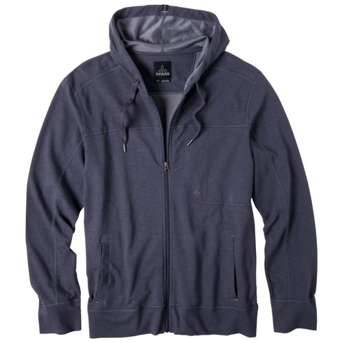 Mens Prana Frontier Warm-Up Hooded Jackets - Coal S