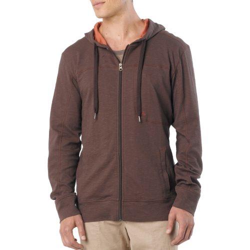 Mens Prana Frontier Warm-Up Hooded Jackets - Espresso XL