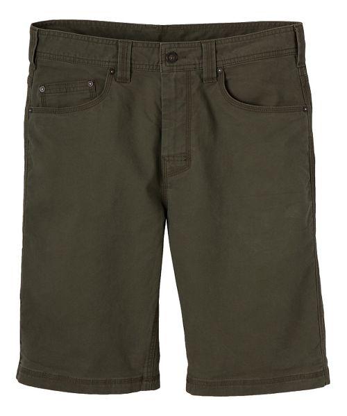 Mens prAna Bronson Unlined Shorts - Cargo Green 34