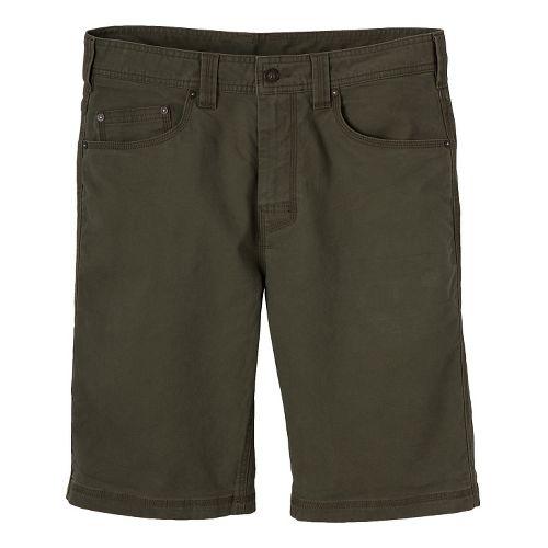 Mens prAna Bronson Unlined Shorts - Cargo Green 36
