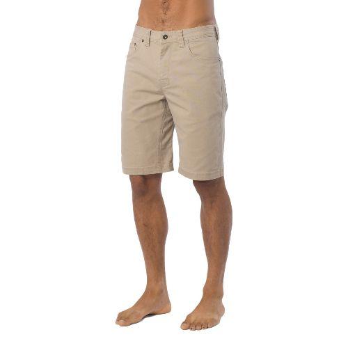 Mens Prana Bronson Unlined Shorts - Khaki 40