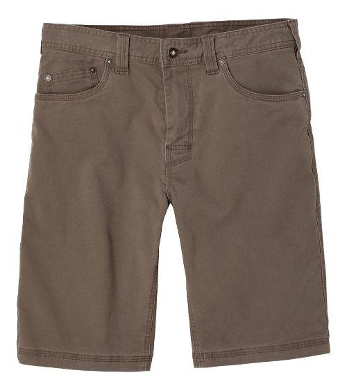 Mens prAna Bronson Unlined Shorts - Mud 35