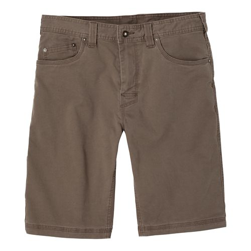 Mens prAna Bronson Unlined Shorts - Mud 28