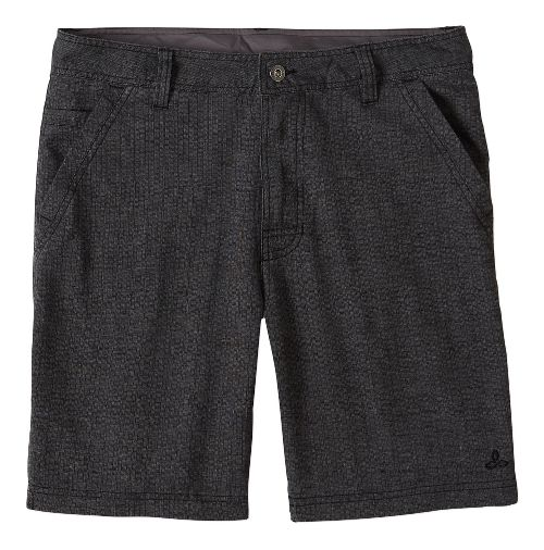 Mens prAna Furrow Unlined Shorts - Black Herringbone 30