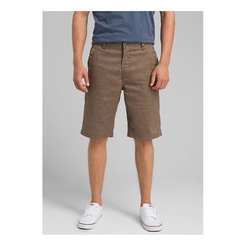 Mens prAna Furrow Unlined Shorts - Mud 28