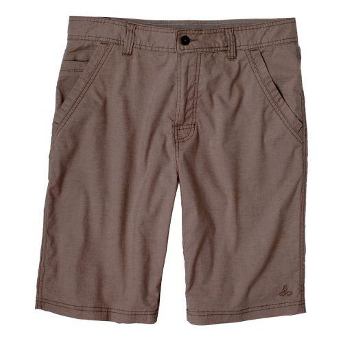 Mens Prana Furrow Unlined Shorts - Espresso 33