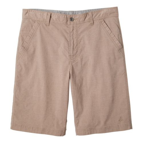 Mens Prana Furrow Unlined Shorts - Khaki 36