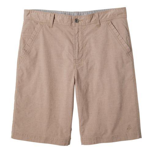 Mens Prana Furrow Unlined Shorts - Khaki 38