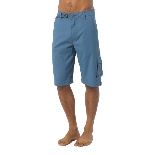 Mens Prana Stretch Zion Unlined Shorts - Blue Jean L