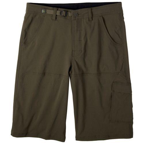 Mens Prana Stretch Zion Unlined Shorts - Cargo Green M