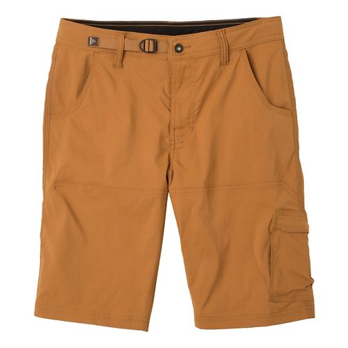 Mens Prana Stretch Zion Unlined Shorts - Dark Ginger L