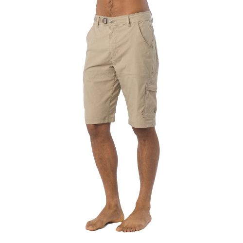 Mens Prana Stretch Zion Unlined Shorts - Dark Khaki S