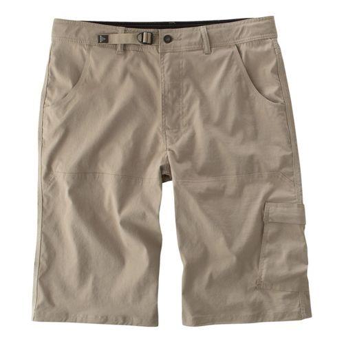 Mens Prana Stretch Zion Unlined Shorts - Khaki M