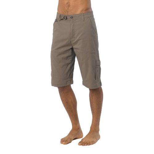 Mens Prana Stretch Zion Unlined Shorts - Mud L