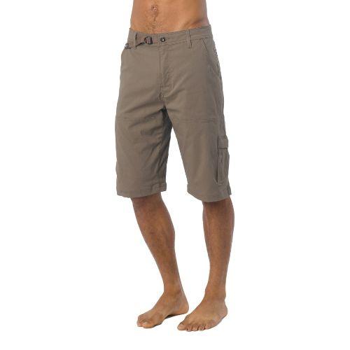 Mens Prana Stretch Zion Unlined Shorts - Mud XXL