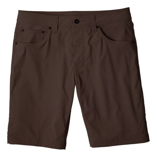 Mens Prana Brion Unlined Shorts - Brown 36