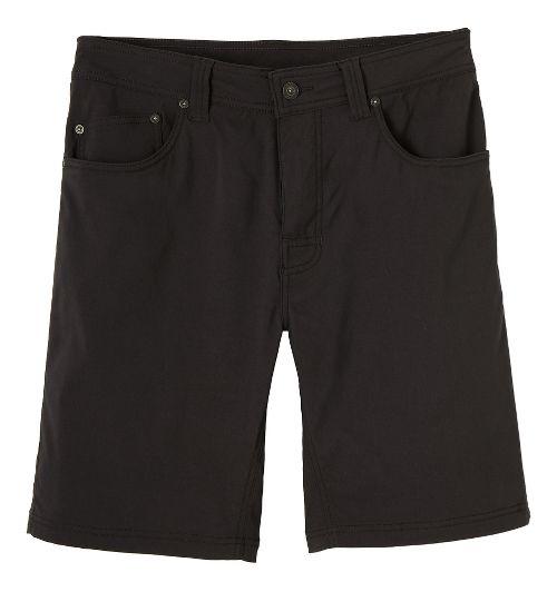 Mens prAna Brion Unlined Shorts - Charcoal 33