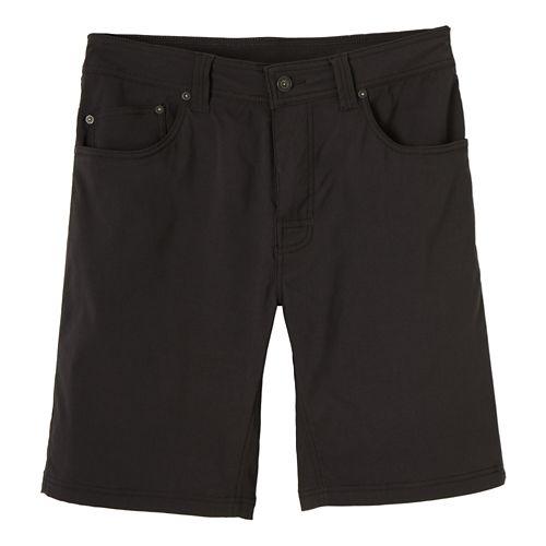 Mens prAna Brion Unlined Shorts - Charcoal 28