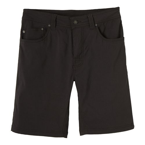 Mens prAna Brion Unlined Shorts - Dark Khaki 36