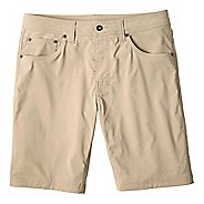 Mens prAna Brion Unlined Shorts - Dark Khaki 38