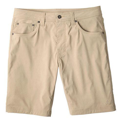 Mens prAna Brion Unlined Shorts - Dark Khaki 35