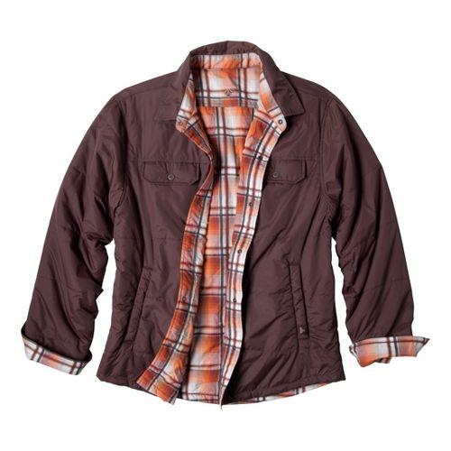 Mens Prana Rhody Reversible Warm-Up Unhooded Jackets - Brown XL