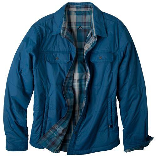 Mens Prana Rhody Reversible Warm-Up Unhooded Jackets - Storm Blue M