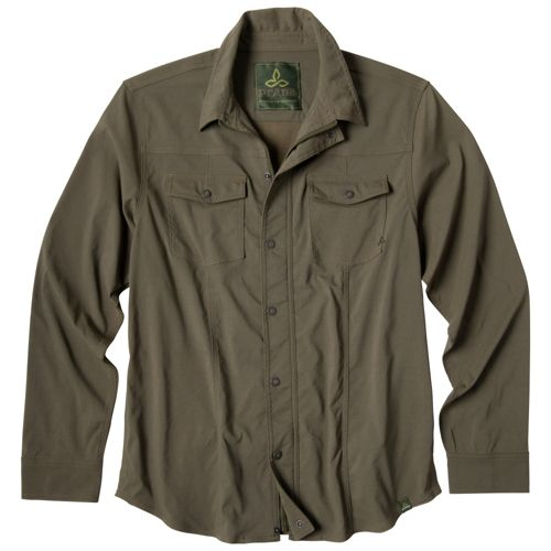 Mens Prana Shadow Warm-Up Unhooded Jackets - Cargo Green M