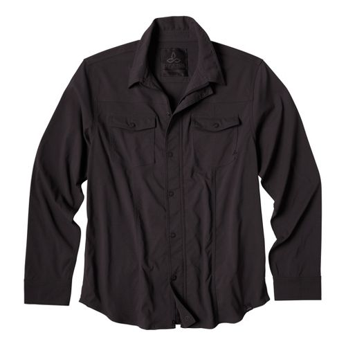 Mens Prana Shadow Warm-Up Unhooded Jackets - Charcoal S