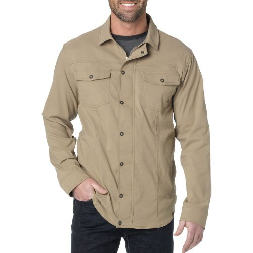 Mens Prana Shadow Warm-Up Unhooded Jackets - Dark Khaki XL