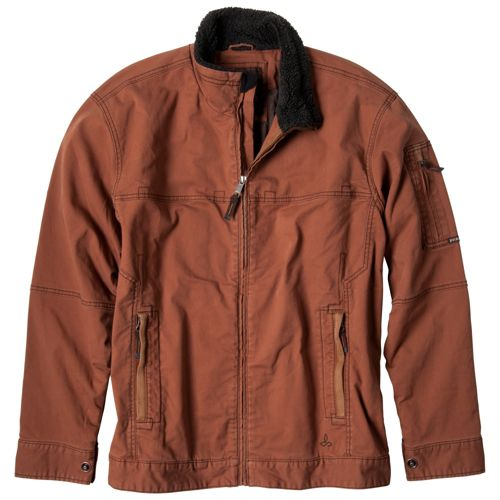Mens Prana Bronson Warm-Up Unhooded Jackets - Auburn XXL