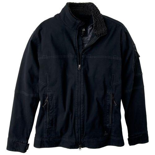 Mens Prana Bronson Warm-Up Unhooded Jackets - Black L