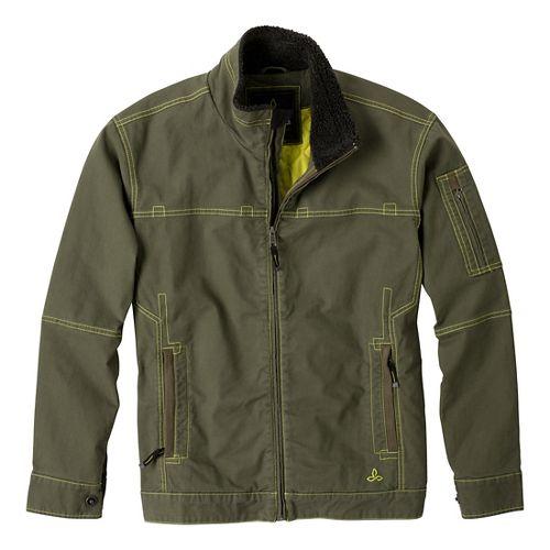 Mens Prana Bronson Warm-Up Unhooded Jackets - Cargo Green S