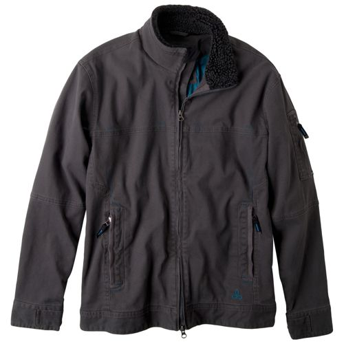 Mens Prana Bronson Warm-Up Unhooded Jackets - Charcoal L