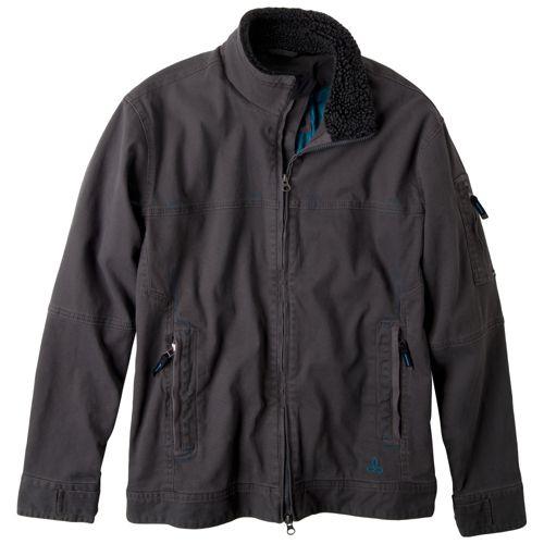 Mens Prana Bronson Warm-Up Unhooded Jackets - Charcoal XXL