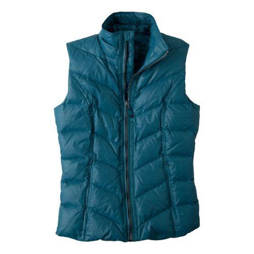 Womens Prana Ana Outerwear Vests - Blue Spruce S