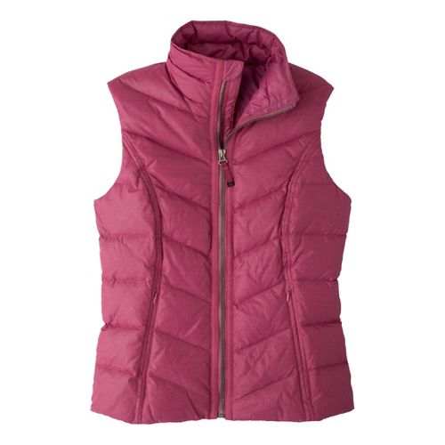 Womens Prana Ana Outerwear Vests - Plum Red S