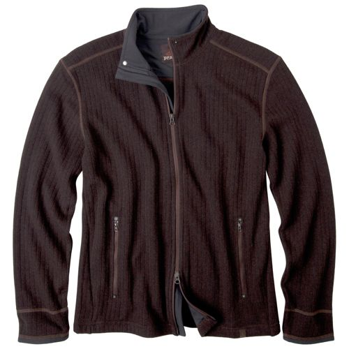 Mens Prana Barclay Sweater Long Sleeve Full Zip Technical Tops - Espresso XL