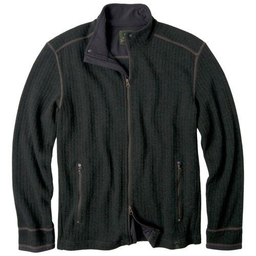 Mens Prana Barclay Sweater Long Sleeve Full Zip Technical Tops - Olive XL