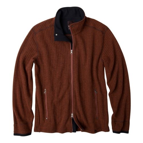 Mens Prana Barclay Sweater Long Sleeve Full Zip Technical Tops - Terracotta XL