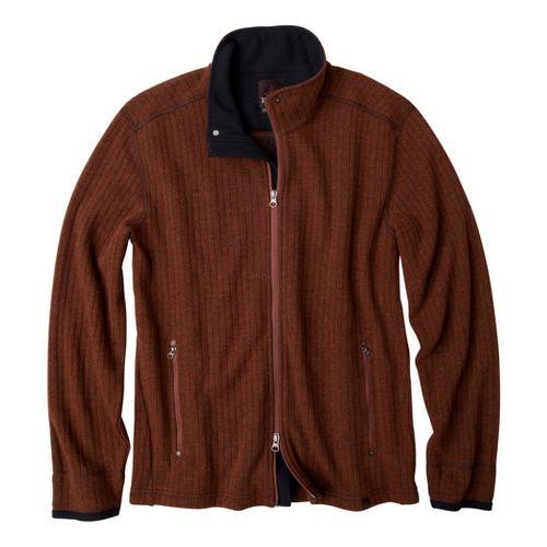 Mens Prana Barclay Sweater Long Sleeve Full Zip Technical Tops - Terracotta XXL