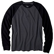 Mens Prana Basin Crew Long Sleeve Non-Technical Tops