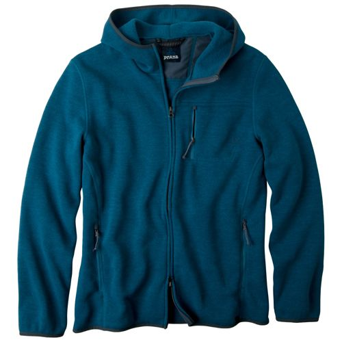 Mens Prana Bryce Long Sleeve Full Zip Technical Tops - Corsica XXL