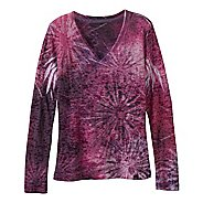 Womens Prana Burst Long Sleeve No Zip Technical Tops