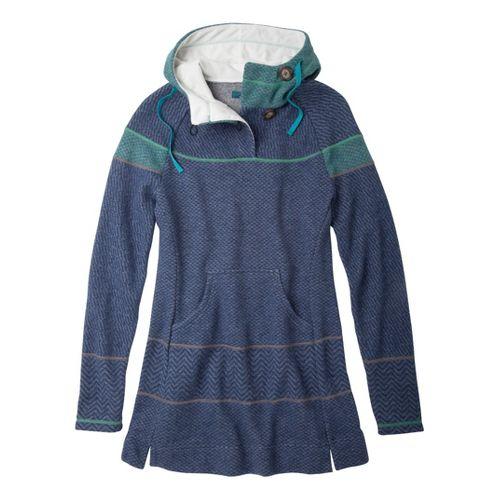 Womens Prana Caitlyn Tunic Sweater Long Sleeve No Zip Technical Tops - Dress Blue L ...