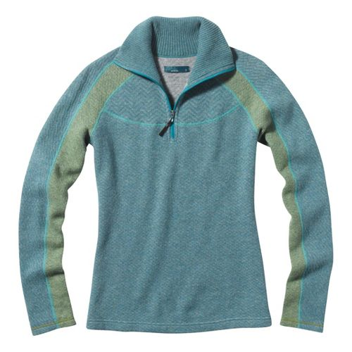 Womens Prana Corrine Sweater Long Sleeve 1/2 Zip Technical Tops - Dress Blue XS