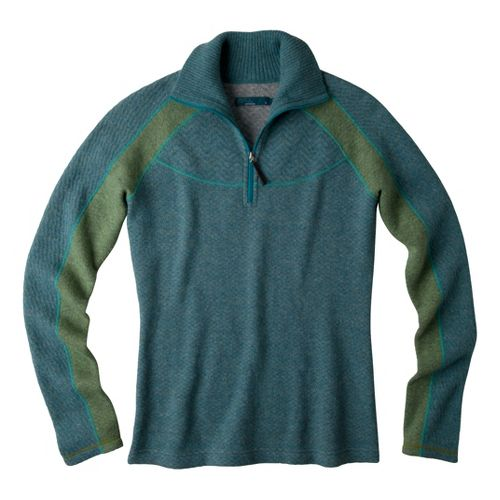 Womens Prana Corrine Sweater Long Sleeve 1/2 Zip Technical Tops - Mystic L