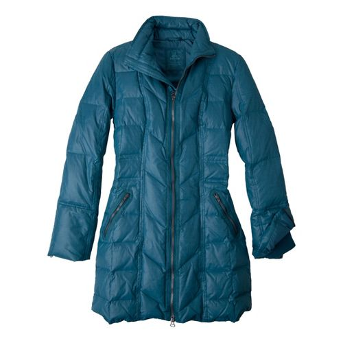 Womens Prana Devan Warm-Up Unhooded Jackets - Blue Spruce XL