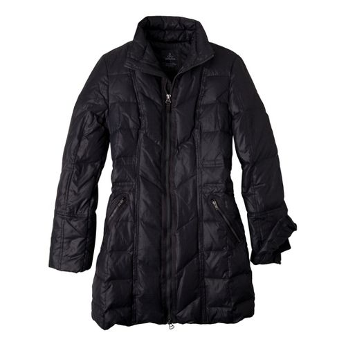 Womens Prana Devan Warm-Up Unhooded Jackets - Coal XS