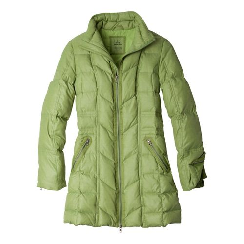 Womens Prana Devan Warm-Up Unhooded Jackets - Grass M